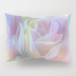 Pastel Watercolor Rose Pillow Sham