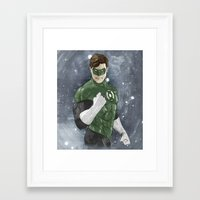 green lantern Framed Art Prints featuring Green Lantern by Alex Heuchert