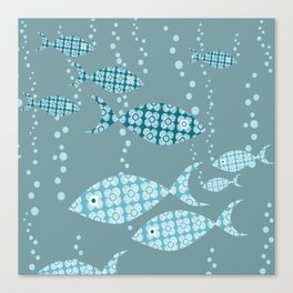 Shoals of Floral Fish Canvas Print