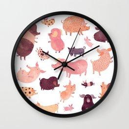 Pig Pig Pig Wall Clock