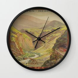 Vintage poster - Route des Alpes, France Wall Clock