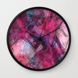 Red Dawn Abstract Wall Clock