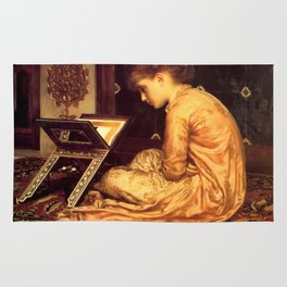 """Frederic Leighton """"Study at a Reading Desk"""" Rug"""