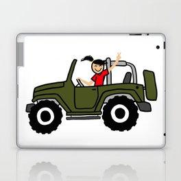 wrangler wave - military green - side view Laptop & iPad Skin