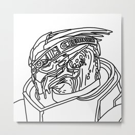 Garrus Metal Print