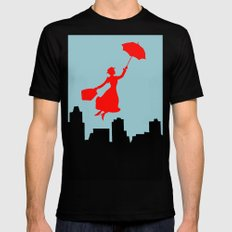 Mary Poppins  Mens Fitted Tee Black 2X-LARGE