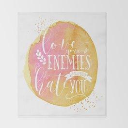 LUKE 6:27 (Love Your Enemies) Throw Blanket