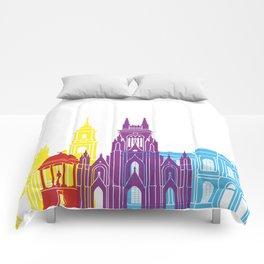 Bogota skyline pop Comforters
