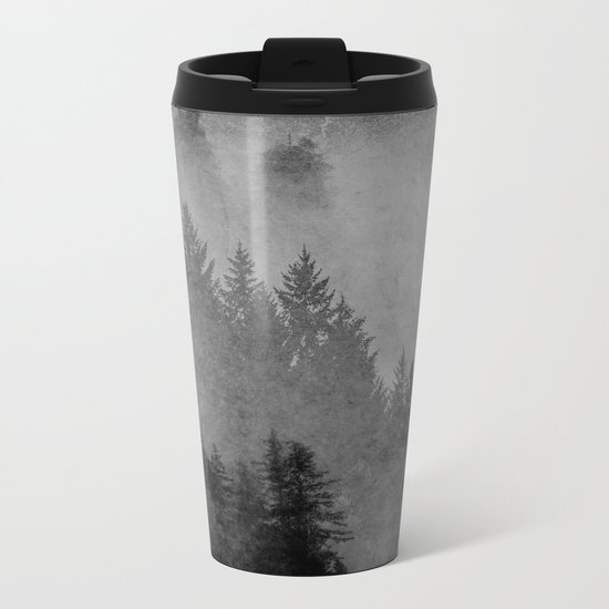Charcoal Forest Metal Travel Mug