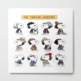 The Twelve Dogtors Metal Print