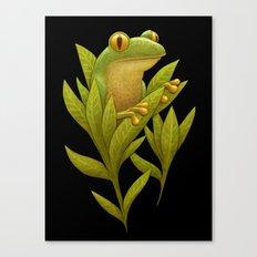 Frog Bloom Canvas Print