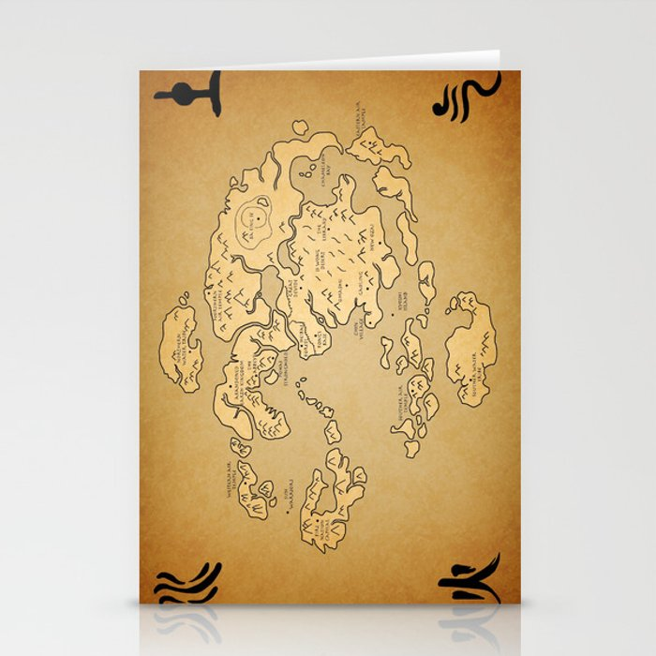 Avatar Last Airbender Map Stationery Cards by kewlzidane | Society6