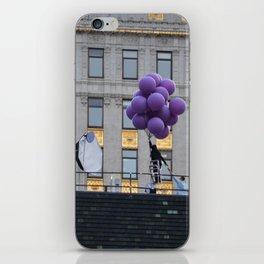 Purple balloon iPhone Skin