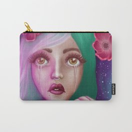 Crying Alien Girl in Space Carry-All Pouch