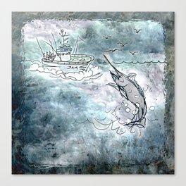 Fishing swordfish Canvas Print