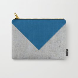 Blue & Grey Concrete Carry-All Pouch