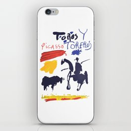 Toros Y Toreros (Bulls and Bullfighters) Artwork By Pablo Picasso T Shirt, Book Cover iPhone Skin