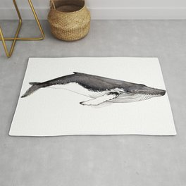 Humpback whale for whale lovers Rug