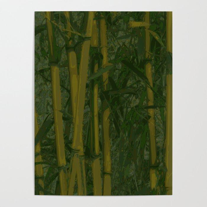 Bamboo jungle Poster
