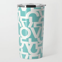 Hidden blue LOVE message Travel Mug