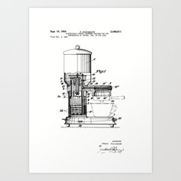 Espresso Machine Patent Artwork Art Print