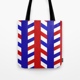 Striped Red Blue Pattern Tote Bag
