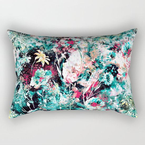 Space Garden II Rectangular Pillow