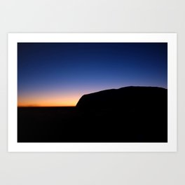 Sunrise over Uluru Art Print