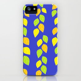 blue leaves iPhone Case