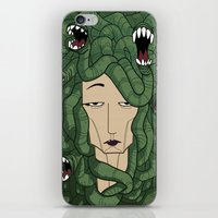 medusa iPhone & iPod Skins featuring Medusa by Tram