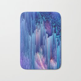Beglitched Waterfall - Abstract Pixel Art Bath Mat