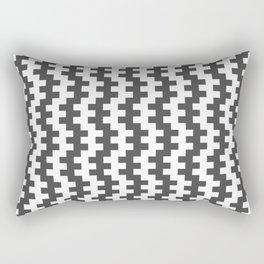 Stripe Dancer Grey Rectangular Pillow