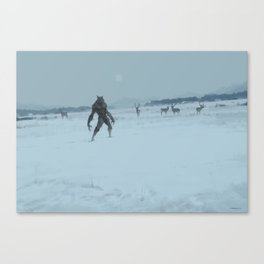 a lonely wolf Canvas Print