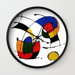 In the Style of Miro Wall Clock
