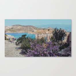 Blue and purple Greece Canvas Print