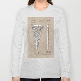 patent art Tucker Lacrosse stick 1967 Long Sleeve T-shirt