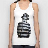 chaplin Tank Tops featuring Charles Chaplin  by Krzyzanowski Art