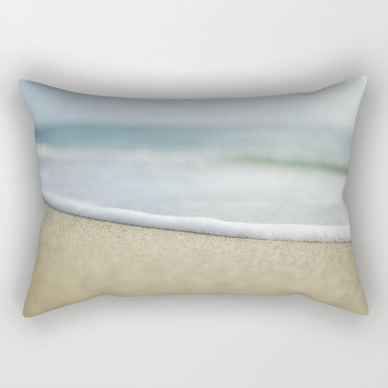 Sea Foam Beach Rectangular Pillow