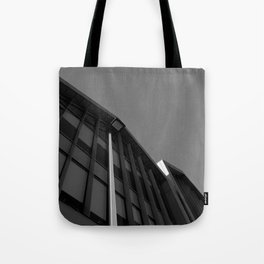 black and white building abstract Tote Bag