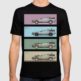 Back to the Future - Delorean x 4 T-shirt