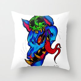 what big teeth you have Throw Pillow