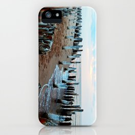 Water licks the Wharf's Remains iPhone Case