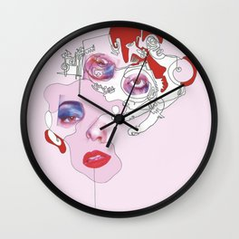 Untitled Pink Wall Clock