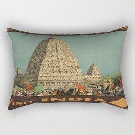 Vintage poster - India Rectangular Pillow