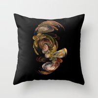 baroque Throw Pillows featuring Baroque by Tobias Bowman