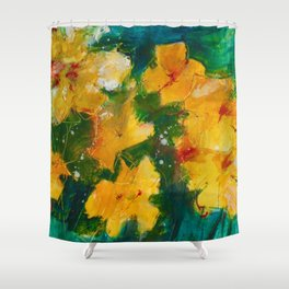 Party Pansies Shower Curtain
