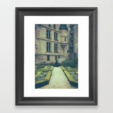 French Garden Maze Framed Art Print