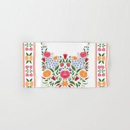 Hungarian folk pattern – Kalocsa embroidery flowers Hand & Bath Towel