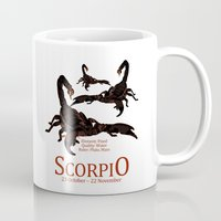 scorpio Mugs featuring Scorpio by Adamzworld