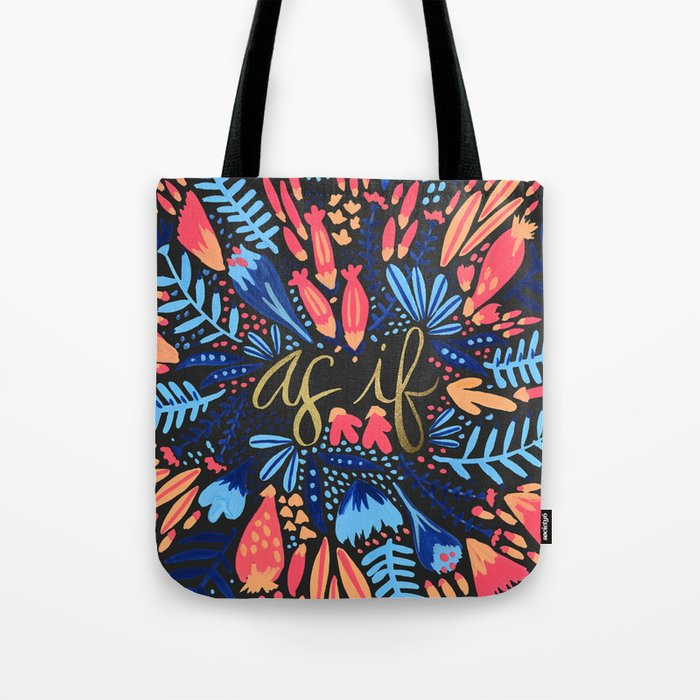 As If – Pink & Black Tote Bag